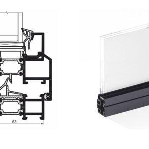 Система «теплого» алюминия IW 63